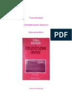 Thomas Bernhard - Vitgenštajnov Sinovac