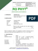 1.8 PRO PHYT. Aceite Vegetal. Ficha Tecnica