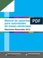 111 Manual de Capacitacion de Autoridades de Mesas Nacionales 2013 Baja