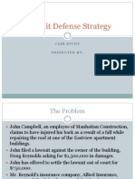 Quan Case Study-Lawsuit Defense Strategy