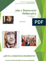 Poder Popular y Democracia Deliberativa