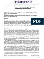 Assessing Changes in Dairy Product Import Demand the Case of South Korea With Implementation of the KORUS FTA 2014 Agribusiness