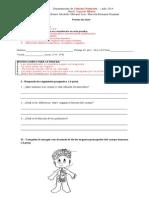 Prueba de Nivel c.naturales 2 Basico 2014