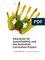 Education for Sustainability and the Australian Curriculum Project Final Report For Research Phases 1-3