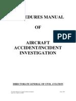 Procedure Manual- Aircraft Accident Incident Investigation