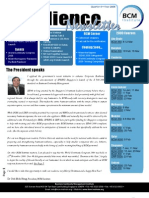 Business Continuity Management BCM Institute Resilience Newsletter Q4 2008