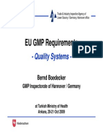 EU GMP Requirements-Quality Systems