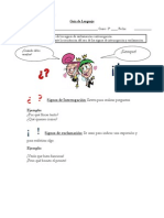 Guía de Lenguaje Signos Pregunta Interrogacion