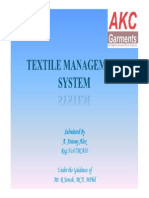 Textile Management System - Review I