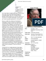 Noam Chomsky - Wikipedia, The Free Encyclopedia