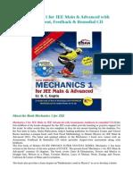 Mechanics 1 for JEE