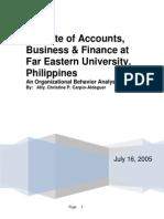 Organizational Behavior FEU IABF