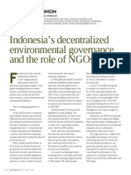 Indonesia Decentralised Environmental Governance and the Role of NGOs