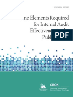 Nine Elements Required for Internal Audit Effectiveness in the Public Sector