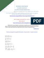 Equações Fracionárias