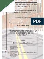 Comportamiento Dinámico de Un Puente Con Aisladores de Base Histerétericos