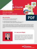 MSC Software Acoustics Course-India