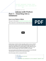 6SQL Database With Python Part 1 - Inserting Into a Database - Python Programming