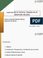 Aportes Del Minería, Impacto en El Desarrollo Del País- Javier Salazar, Southern Perú