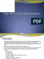 Top 10 Tourist Destination in the World