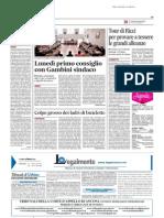 Tour di Ricci per provare a tessere le grandi alleanze -Il Messaggero del 20 giugno 2014