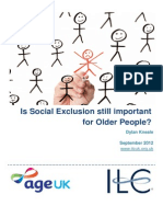 Is Social Exclusion Still Important for Older People 1