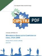 Movimiento Sindicalista Campesino en Chile, 1924-2000. CIPSTRA Articulo N°2