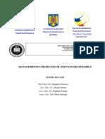 Managementu -Proiectelor Dezvoltare Durabila