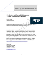 Creolization and Cultural Globalization -- The Sof