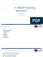 ABAP Training Session # 3
