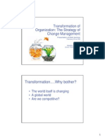 Transformation of Organization the Strategy of Change Management