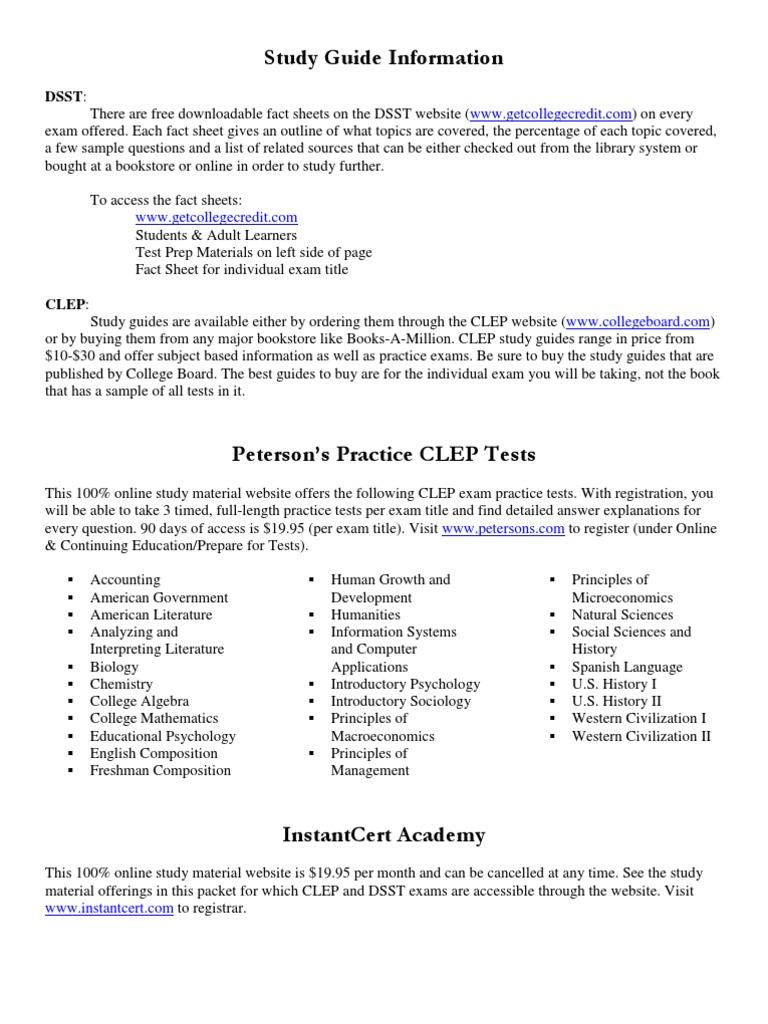 clep dsst study guide info college level examination program rh scribd com english literature clep study guide english clep study guide pdf