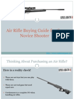Air Rifle Buying Guide for the Novice Shooter