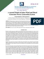 23 a Hybrid Model of Solar Wind
