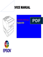 Epson EPL-N1600 Duplex Unit Service Manual