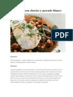 Garbanzos Con Chorizo y Pescado Blanco