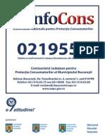 ANPC OPC 0219551 Bucuresti Model Placuta Afisare Agenti Economici