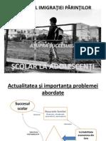 IMPACTUL IMIGRAŢIEI PĂRINŢILOR ASUPRA SUCCESULUI ŞCOLAR LA ADOLESCENŢI_Nadejda Corcimar