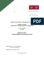 Relatório O.T. Responsabilidade Social Organizacional Final