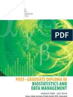 Post Graduate Diploma in Bio Statistics and Data Management