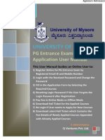 Mysore University PG Application Form 2014 General Instructions