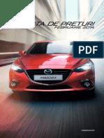 Mazda 3 - lista de preturi iunie 2014 Romania