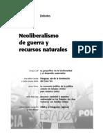 Neoliberalismo y Recursos Naturales
