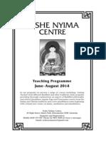 Yeshe Nyima Winter Programme 2014