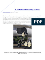 Boeing 787 and Lithium Ion Battery Failure