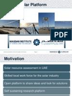 Masdar Solar Platform