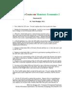Monetary Economics 2 2014 Homework 01