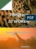 10 Golden Words for Improvements in Life