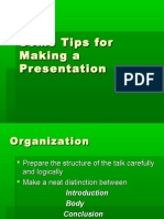 Tips for making prsentation