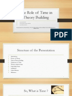 The Role of Time in Theory Building